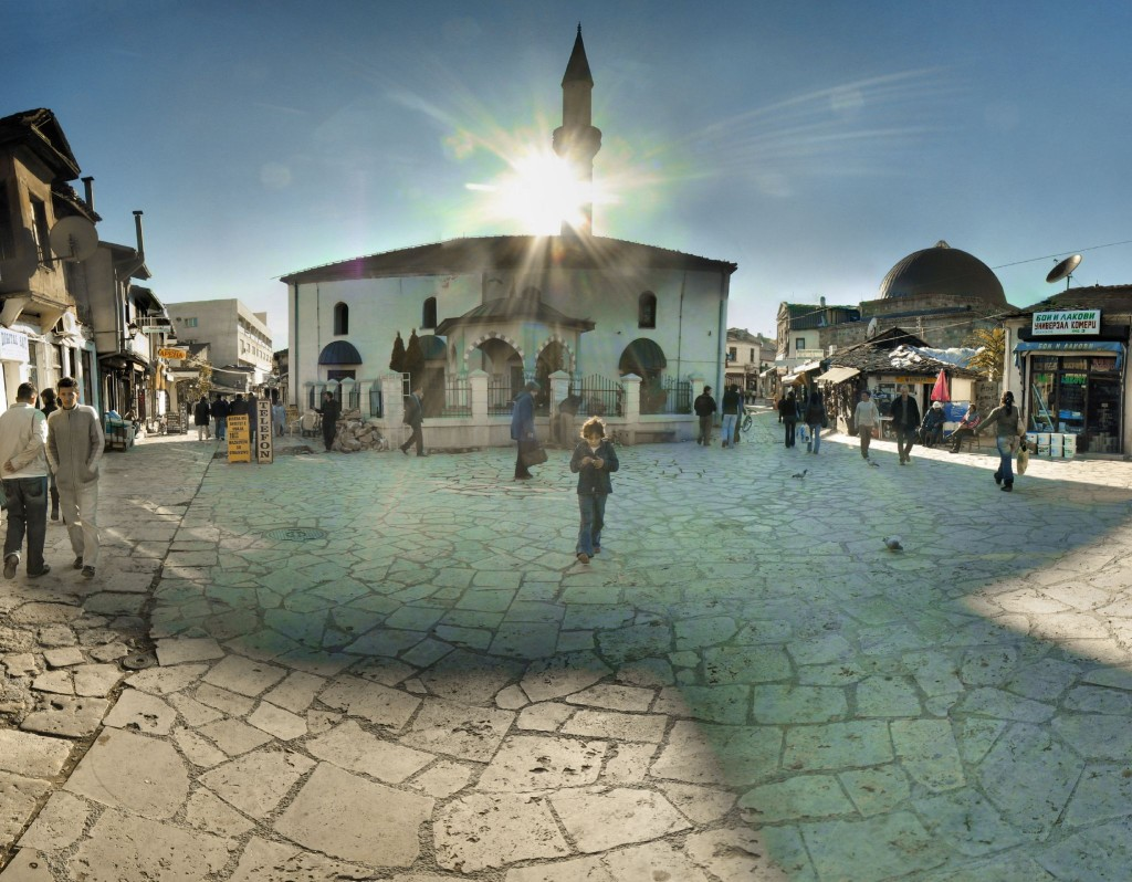 Turkish neighborhood in Skopje, Macedonia. Source: Panoramas, Creative Commons