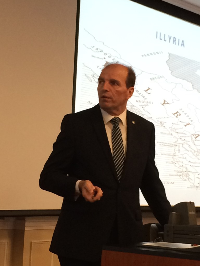 Ahmet Shala during his lecture at the Reiff Center