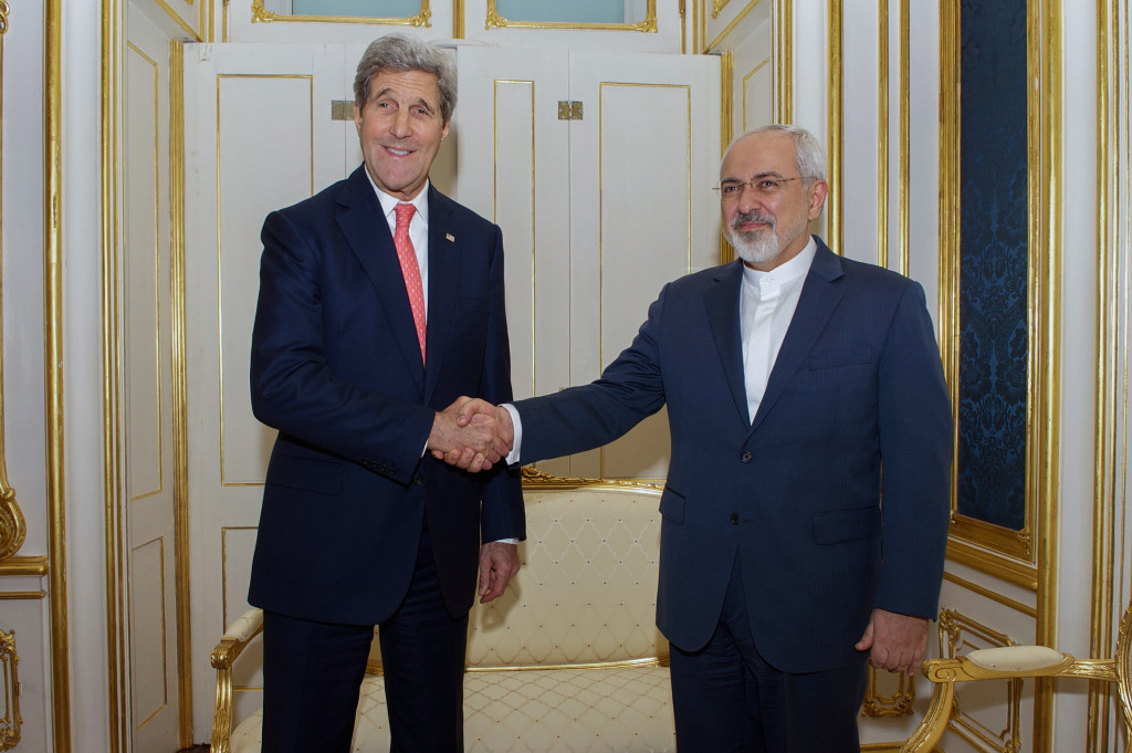 U.S. Secretary of State John Kerry and Foreign Minister Javad Zarif of Iran during the negotiations of the Iran deal. Source: U.S. Embassy Vienna, Creative Commons