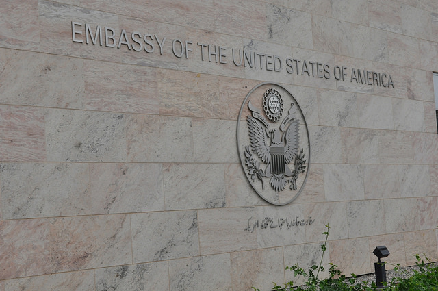 Mr. Choudhry hopes that the U.S. Embassy in Islamabad will pressure the Pakistani government to change its blasphemy laws. Source: U.S. Embassy Pakistan, Creative Commons