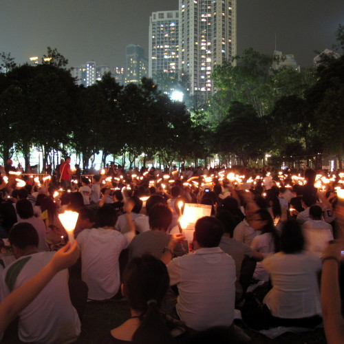 Protesters in Hong Kong, Creative Commons