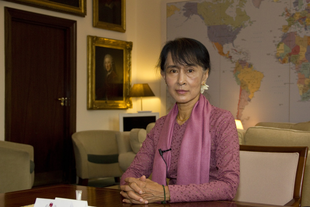 June 2012: Aung San Suu Kyi visits the Department for International Development in London. Source: DFID - UK Department for International Development, Creative Commons