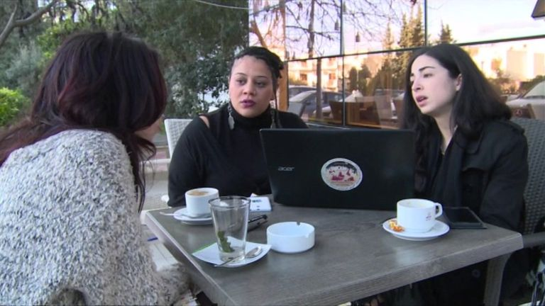 Both Amal Khaleef and Amal Amrawy were victims of domestic abuse in Tunisia. They have created an online forum that encourages women to leave abusive relationships. (BBC News).