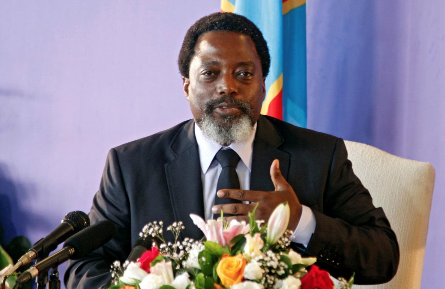 Kabila addressed the ongoing election stall as well as his views on preserving the stability of the DRC. (Reuters/Kenny Katombe).